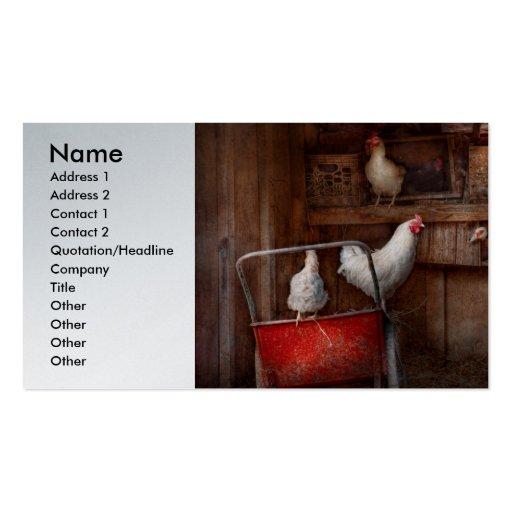 El animal - pollo - el pato es espía tarjetas de negocios