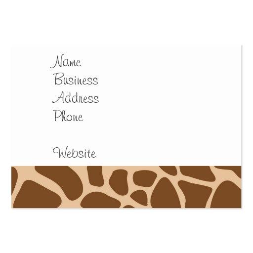 El animal salvaje del estampado de girafa modela l plantillas de tarjetas de visita