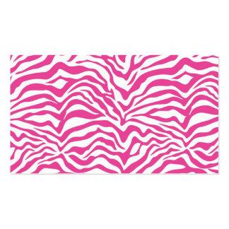 El animal salvaje del estampado de zebra de las ro tarjetas personales