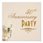 El aniversario, Champán burbujea las invitaciones Invitacion Personalizada