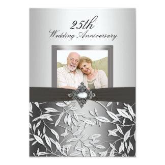 El aniversario de boda de la foto 50.a de la hoja invitación 12,7 x 17,8 cm