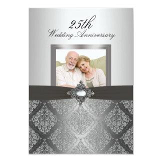 El aniversario de boda de la foto 50.a del damasco invitación 12,7 x 17,8 cm