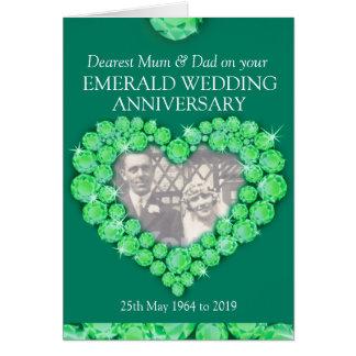 El aniversario de boda esmeralda parents la tarjeta de felicitación