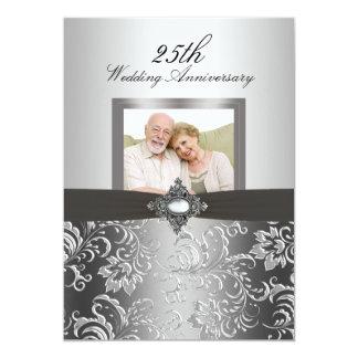 El aniversario de boda floral de la foto 50.a del invitación 12,7 x 17,8 cm