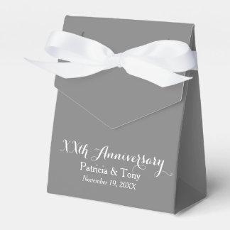 El aniversario de boda personalizó - color de la caja para regalos