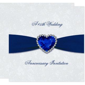 El aniversario de boda suave del damasco 45.o invitación 13,3 cm x 13,3cm