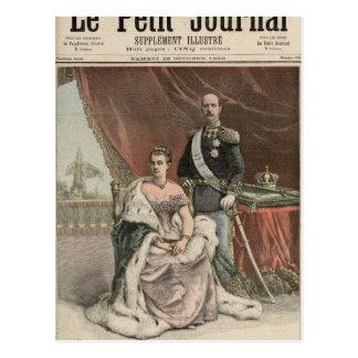 El aniversario de bodas de plata del rey tarjetas postales