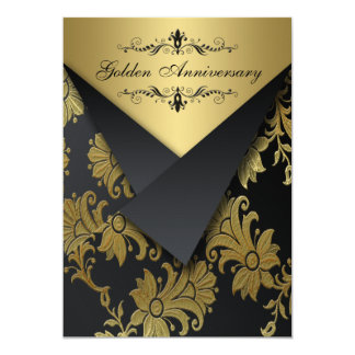 El aniversario de oro de las FALSAS aletas invita Invitación 12,7 X 17,8 Cm