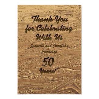 El aniversario del boda de oro 50.o le agradece invitación 12,7 x 17,8 cm