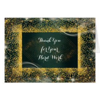 El aniversario del empleado personalizado le tarjeta de felicitación