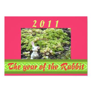 El año del conejo, 2011 invitación 12,7 x 17,8 cm