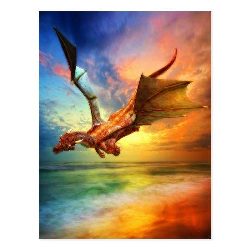 El año del dragón tarjeta postal