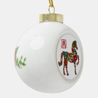 El Año Nuevo chino de la madera del caballo adapta Adorno
