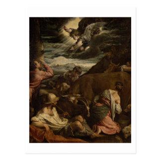 El anuncio a los pastores, c.1557-8 postal