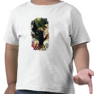 El anuncio (aceite en el panel) 3 camiseta