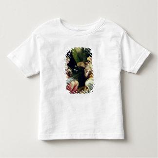 El anuncio (aceite en el panel) 3 camiseta de bebé