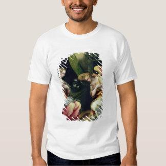 El anuncio (aceite en el panel) 3 camisetas