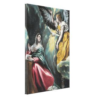 El anuncio de El Greco Lienzo Envuelto Para Galerias