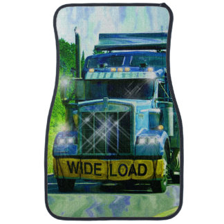 El aparejo grande del andamio del camionero azul d alfombrilla de coche
