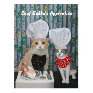 El aprendiz de Bubba del cocinero Postales