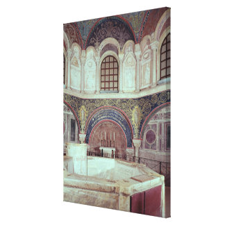 El apse con la fuente bautismal impresiones de lienzo