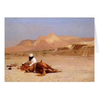 El árabe y su corcel tarjeta de felicitación