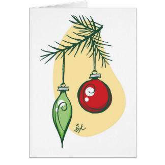 El árbol adorna la tarjeta del día de fiesta por M