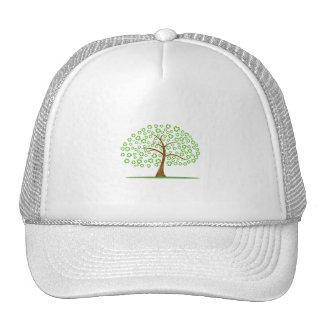 el árbol con recicla para el eco design.png de las gorro de camionero