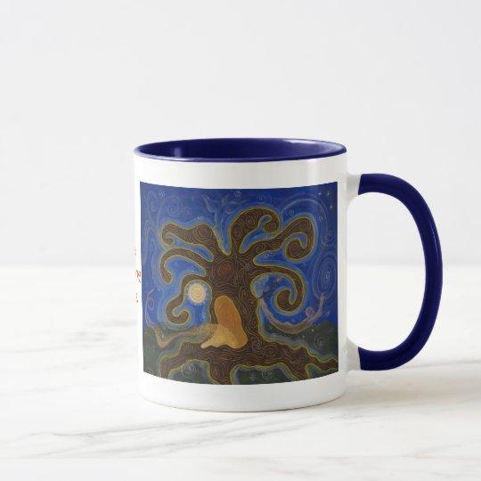 El árbol curativo, el árbol curativo, taza