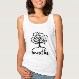 El árbol de la vida de la yoga y de la meditación camiseta con tirantes