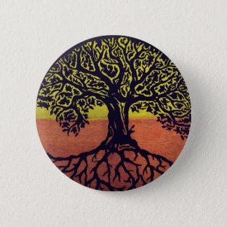¡El árbol de la vida va verde! Chapa Redonda De 5 Cm