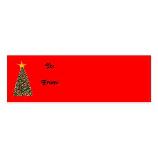 El árbol de navidad, a: De: Tarjetas De Visita Mini