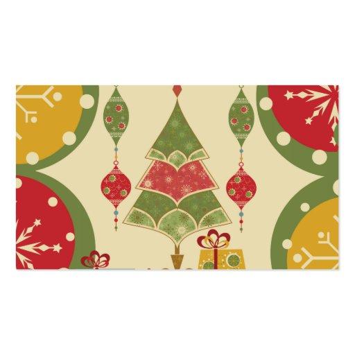 El árbol de navidad adorna día de fiesta de los pr plantillas de tarjeta de negocio