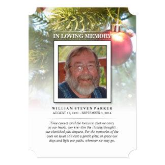 El árbol de navidad conmemorativo y le agradece invitacion personal