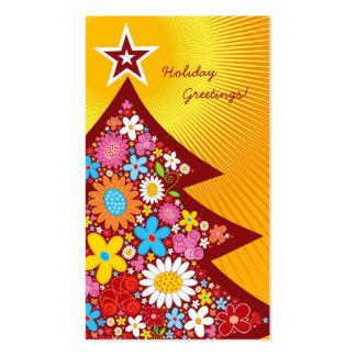 El árbol de navidad de las flores de la primavera tarjetas de visita