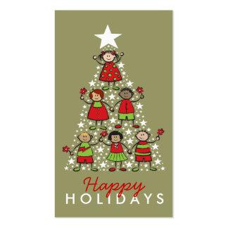 el árbol de navidad del fatfatin embroma la tarjetas de visita