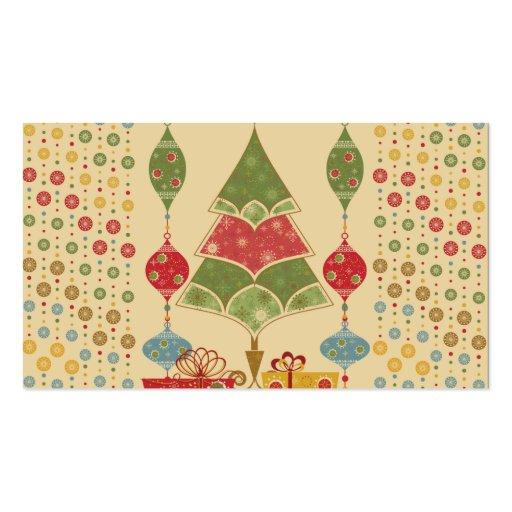 El árbol de navidad lindo del día de fiesta adorna plantilla de tarjeta personal