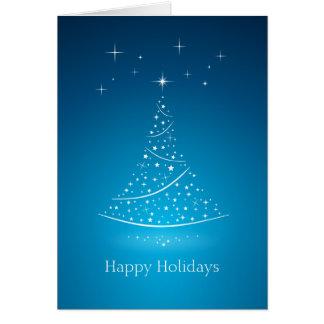 El árbol de navidad protagoniza la tarjeta (del