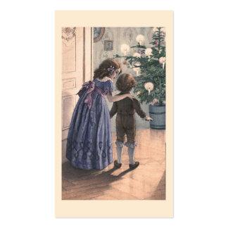 """""""El árbol de navidad """" Plantilla De Tarjeta De Visita"""
