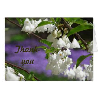 El árbol florece de agradecimiento tarjeta de felicitación