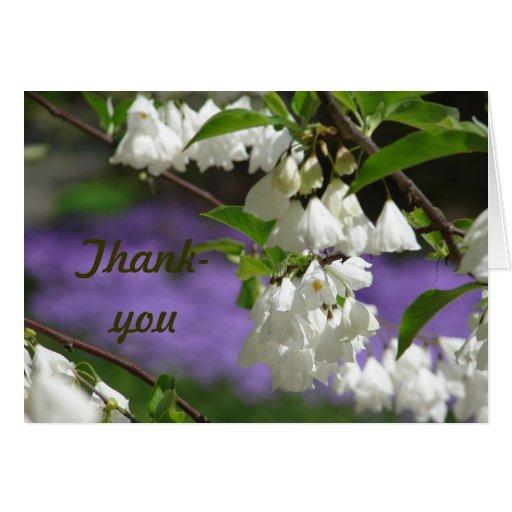 El árbol florece de agradecimiento tarjetón