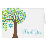 El árbol moderno del verde azul del trullo de la v tarjeta
