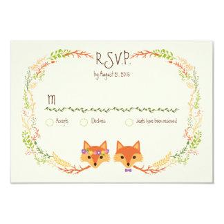 El arbolado caprichoso Foxes la marfil RSVP del Invitación 8,9 X 12,7 Cm