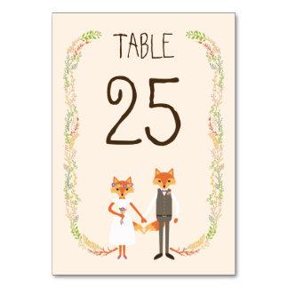 El arbolado caprichoso Foxes la tarjeta de marfil Tarjeta