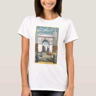 El arco de Washington. Nueva York. Pintura del Camiseta