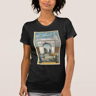 El arco de Washington. Nueva York. Pintura del Camisetas