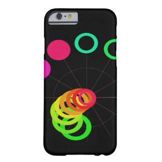 El arco iris colorea arte de la diversión de funda para iPhone 6 barely there
