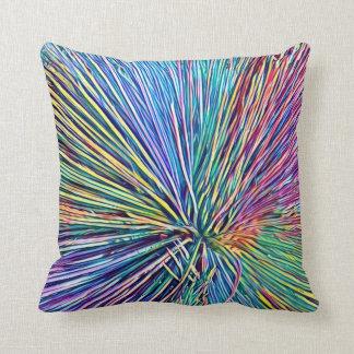 El arco iris colorea la almohada de tiro de la