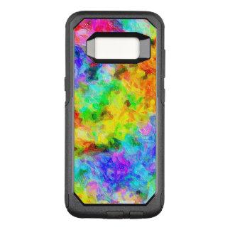 El arco iris colorea la pintura de aceite funda commuter de OtterBox para samsung galaxy s8