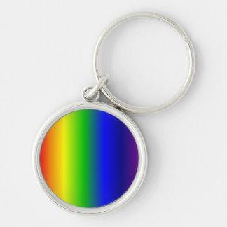 El arco iris colorea llavero redondo superior